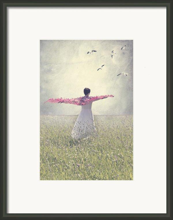 Woman On A Lawn Framed Print By Joana Kruse