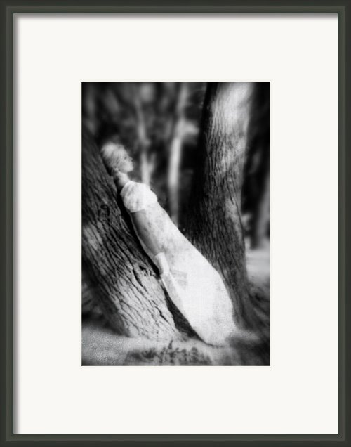 Woman On A Trunk Framed Print By Joana Kruse