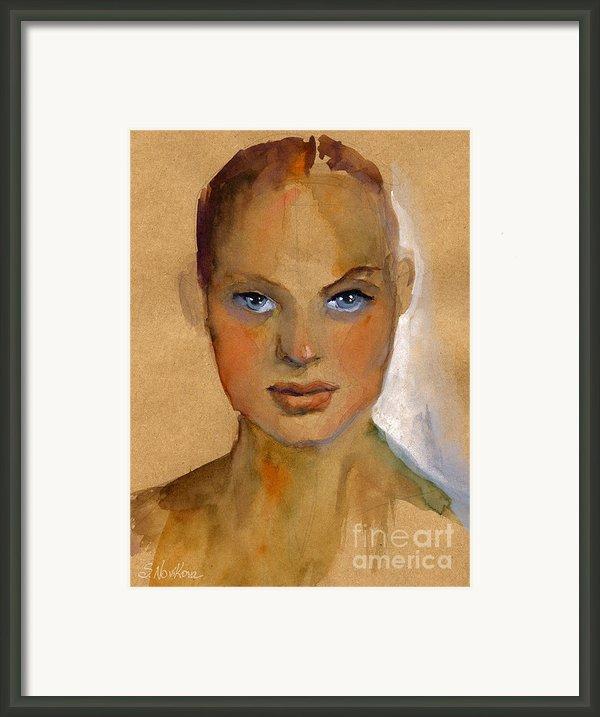 Woman Portrait Sketch Framed Print By Svetlana Novikova