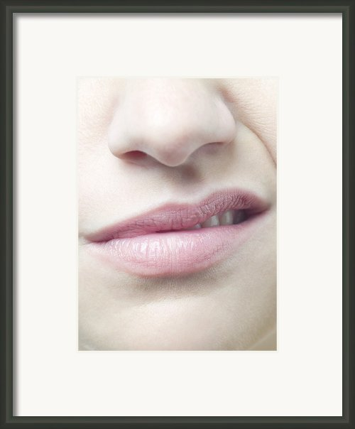 Woman Sneering Framed Print By