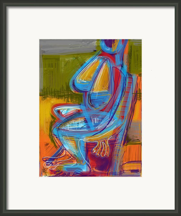 Woman Under Grey Skies Framed Print By Russell Pierce