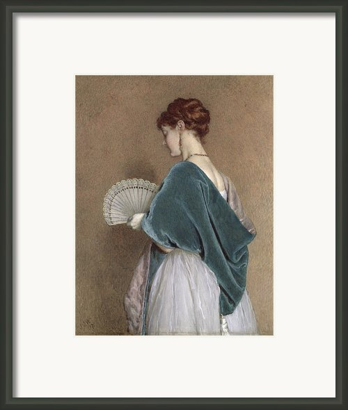 Woman With A Fan Framed Print By John Dawson Watson