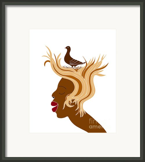 Woman With Bird Framed Print By Frank Tschakert