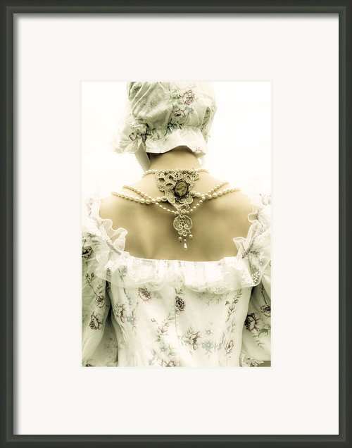 Woman With Bonnet Framed Print By Joana Kruse