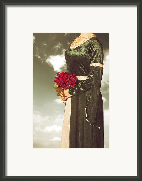 Woman With Roses Framed Print By Joana Kruse