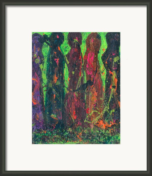 Women Bonding Framed Print By Annette Mcelhiney