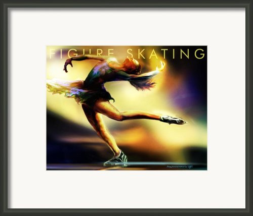 Women In Sports - Figure Skating Framed Print By Mike Massengale