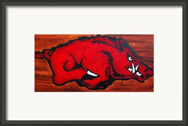 Woo Pig Sooie Framed Print By Laura  Grisham