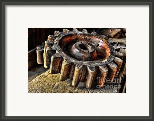 Wood Gears Framed Print By Olivier Le Queinec