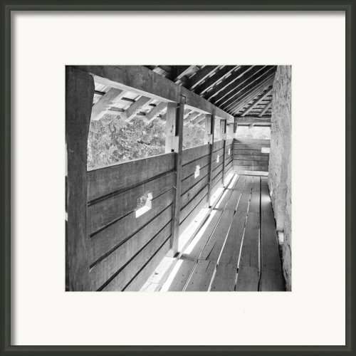 Wooden Balcony Framed Print By Gabriela Insuratelu