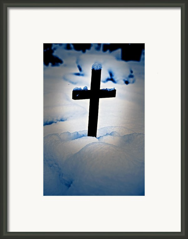 Wooden Cross Framed Print By Joana Kruse
