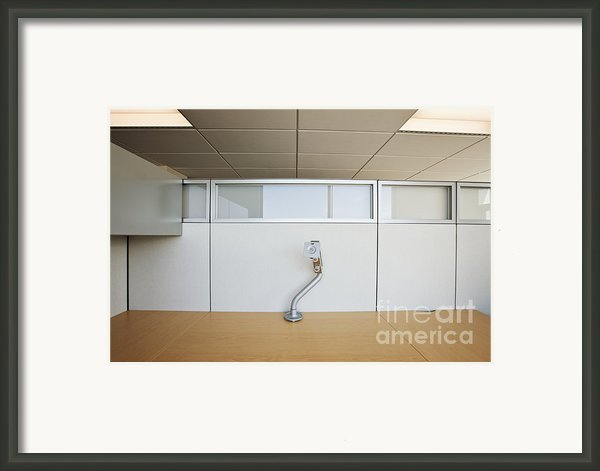 Wooden Desks Being Stored Framed Print By Jetta Productions, Inc