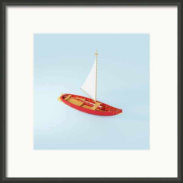 Wooden Toy Sailing Boat Framed Print By Jon Boyes