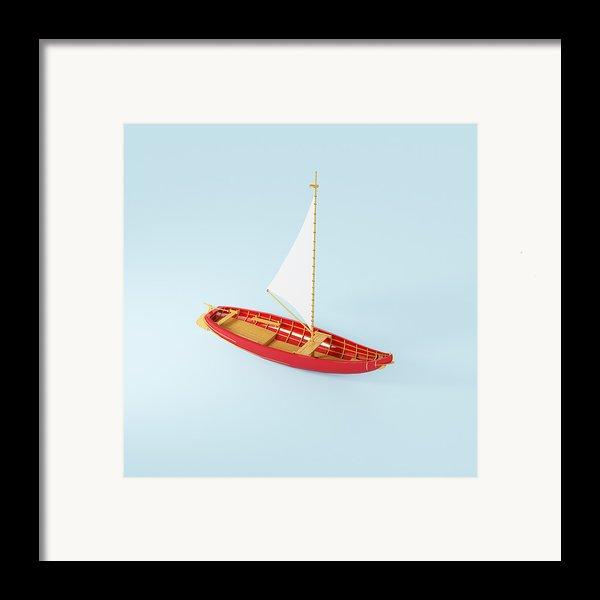 Wooden Toy Sailing Boat Framed Print By Jon Boyes