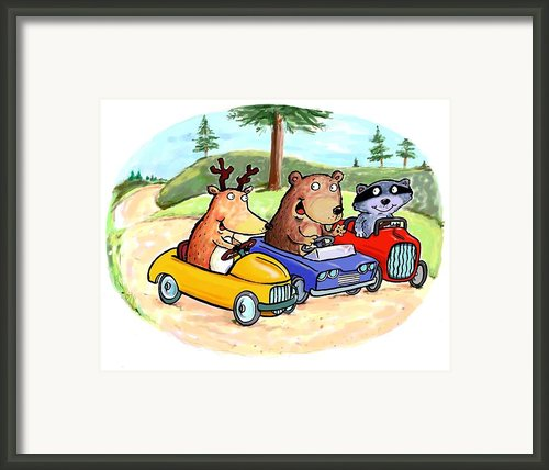 Woodland Traffic Jam Framed Print By Scott Nelson