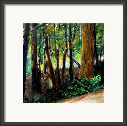 Woodland Trail Framed Print By Michelle Calkins