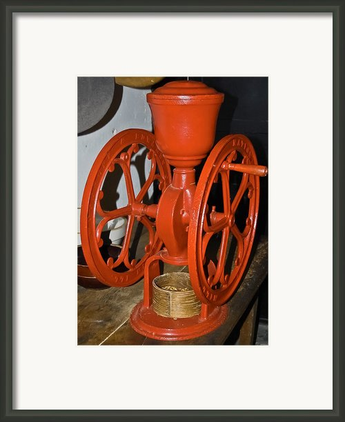Woodruff And Edwards Coffee Mill Framed Print By Digiart Diaries By Vicky Browning