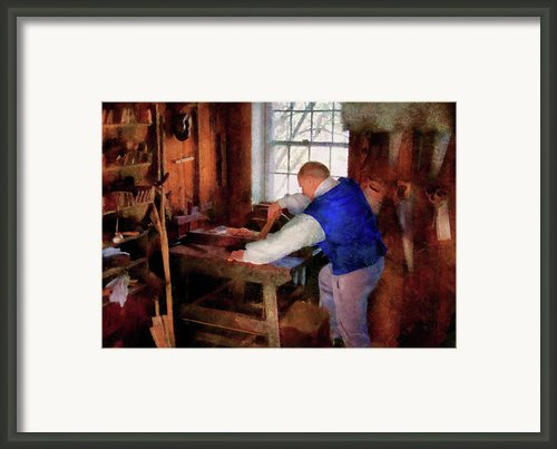 Woodworker - The Master Carpenter Framed Print By Mike Savad