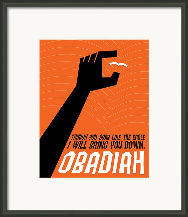 Word Obadiah Framed Print By Jim Lepage