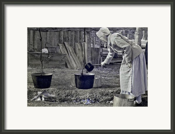 Working Girl Framed Print By Joann Vitali
