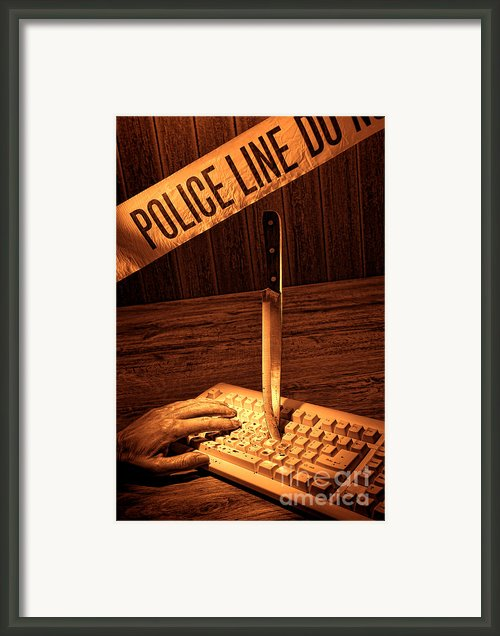 Workplace Violence Framed Print By Olivier Le Queinec