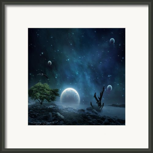 World Beyond Framed Print By Lourry Legarde