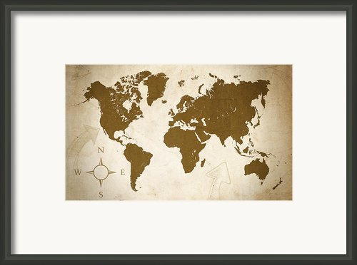 World Grunge Framed Print By Ricky Barnard