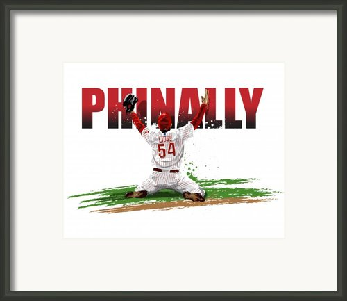 World Series Champions Phinally Framed Print By David E Wilkinson