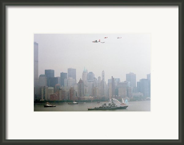 World Trade Center And Opsail 2000 July 4th Uscg Photo 17  Framed Print By Sean Gautreaux