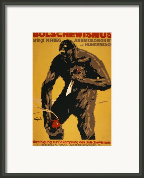 World War I, Bolshevism, German Poster Framed Print By Everett