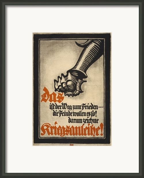 World War I, German Poster Depicting Framed Print By Everett
