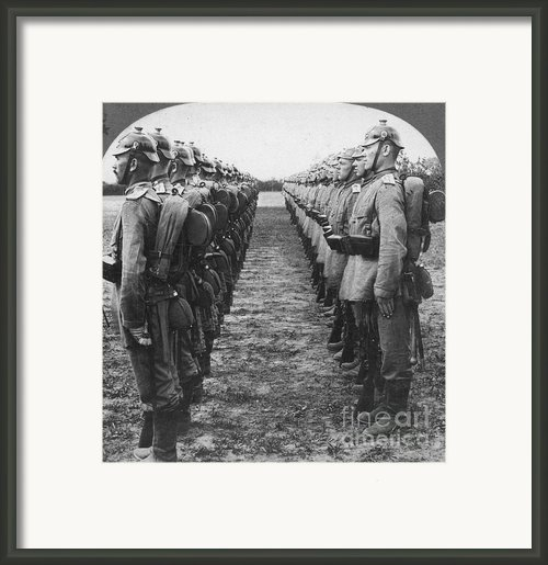 World War I: German Troop Framed Print By Granger