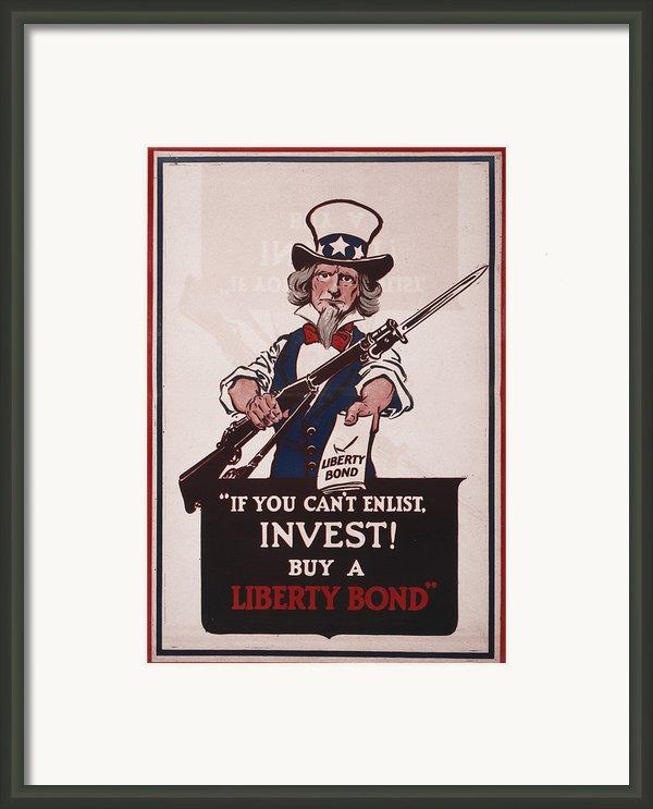 World War I, Poster Showing Uncle Sam Framed Print By Everett