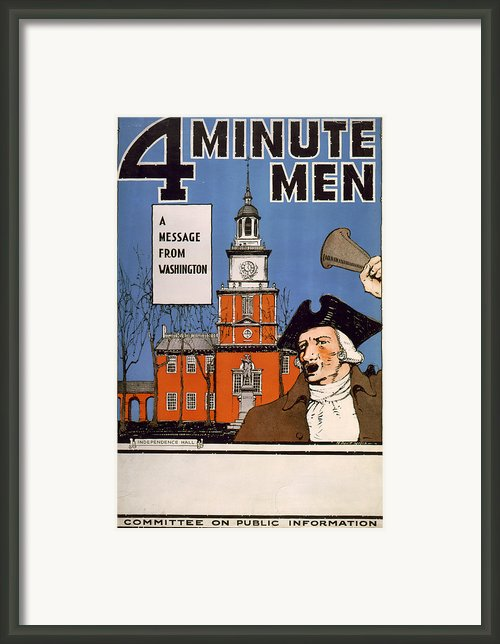 World War I, Town Crier, With Bell Framed Print By Everett