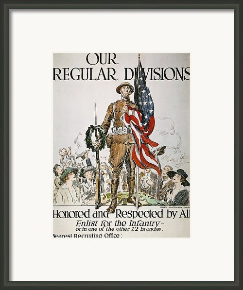 World War I: U.s. Army Framed Print By Granger