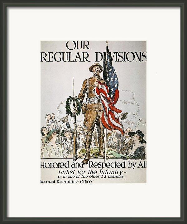 World War I: U.s. Army Framed Print By Granger