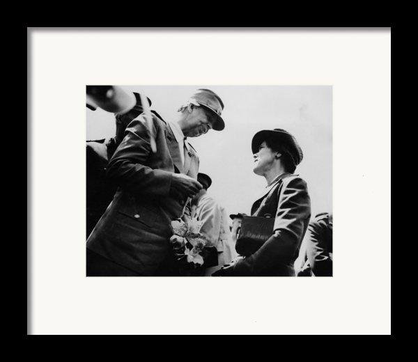 World War Ii. First Lady Eleanor Framed Print By Everett