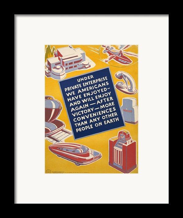 World War Ii Poster Reassuring Framed Print By Everett