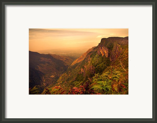 Worlds End. Horton Plains National Park. Sri Lanka Framed Print By Jenny Rainbow