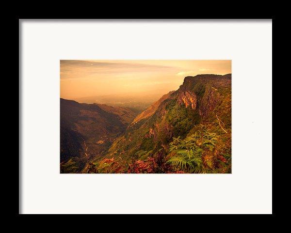 Worlds End. Horton Plains National Park. Sri Lanka Framed Print By Jenny Rainbow
