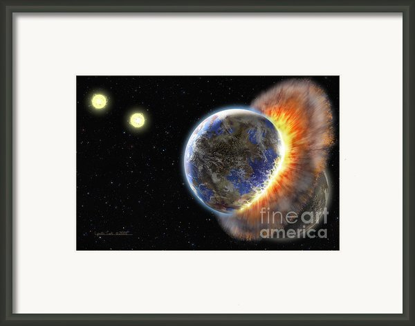 Worlds In Collision Framed Print By Lynette Cook