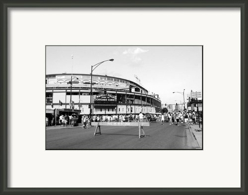 Wrigley Field Framed Print By Courtney Lively