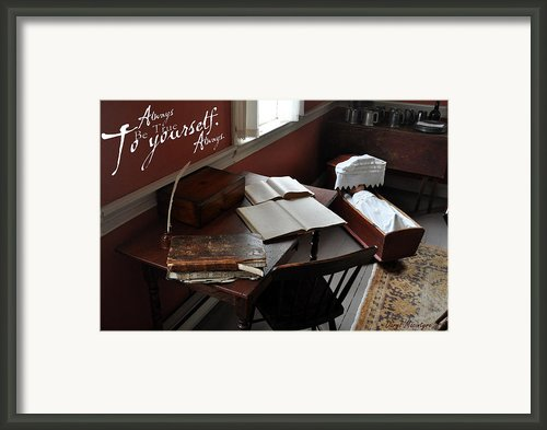 Writers Desk Framed Print By Daryl Macintyre