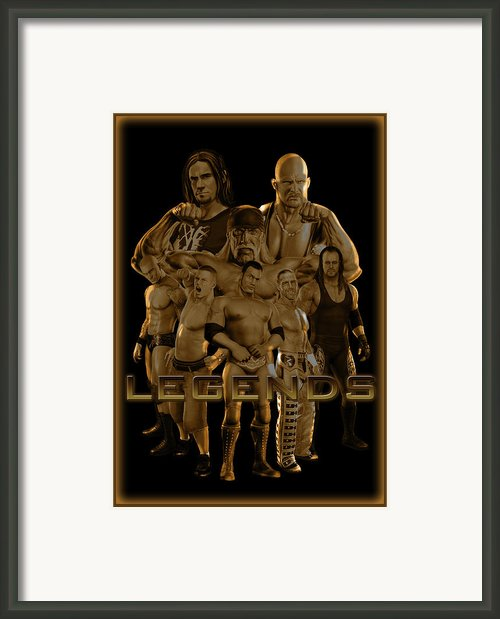 Wwe Legends By Gbs Framed Print By Anibal Diaz