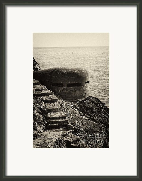 Wwii Pill Box Framed Print By Leslie Leda