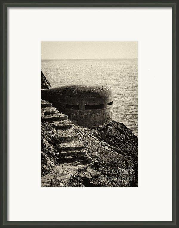 Wwii Pill Box Framed Print By Leslie Leda