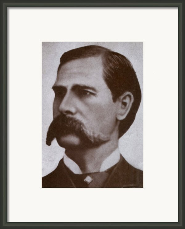 Wyatt Earp 1848-1929, Legendary Western Framed Print By Everett