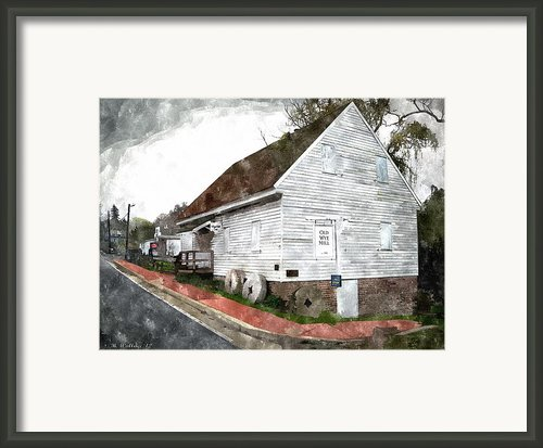 Wye Mill - Water Color Effect Framed Print By Brian Wallace