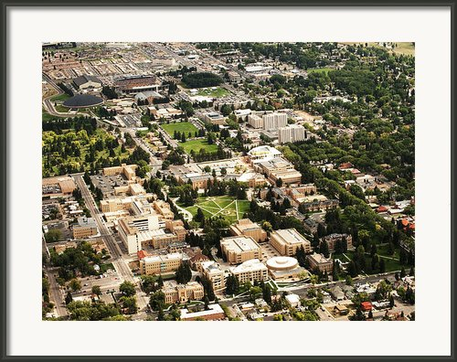 Wyoming Campus Aerial Framed Print By University Of Wyoming