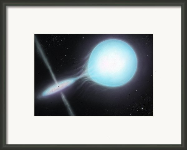 X-ray Binary, Artwork Framed Print By Richard Bizley